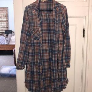 PLAID FRINGE DRESS